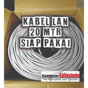 Kabel LAN UTP Merk SPECTRA 20MTR CAT 5E Plus Crimping Konektor RJ45 AM