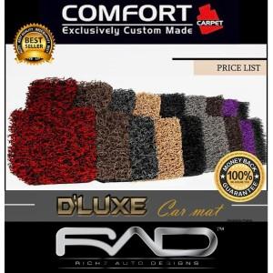 Karpet COMFORT DELUXE MITSUBISI PAJERO set full bagasi+bagasi tambahan