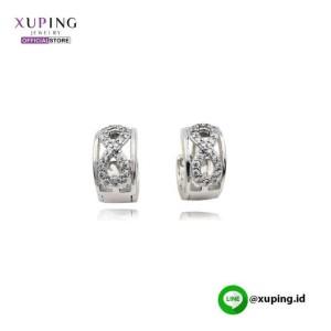XUPING ANTING CLIP MOTIF 8 SILVER ZIRCON 0162190381