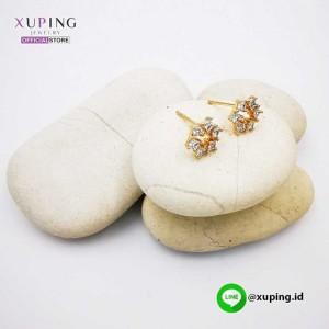 XUPING ANTING TUSUK BUNGA EMAS ZIRCON 0151190597