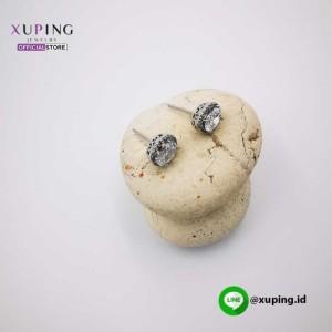XUPING ANTING TUSUK MATA OVAL SILVER ZIRCON 0152190315