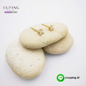XUPING ANTING TUSUK GOLD MOTIF KOTAK 0151021403