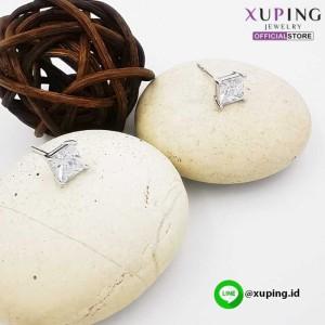 XUPING ANTING TUSUK SILVER MOTIF KOTAK 0152021405