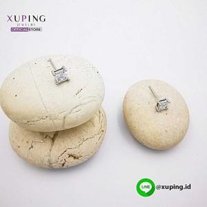 XUPING ANTING TUSUK SILVER MOTIF KOTAK 0152021404