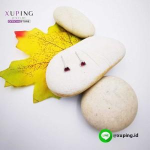 XUPING ANTING TUSUK SILVER MATA LOVE RED 0152032303