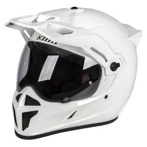 Klim Krios Karbon Adventure Helmet Gloss White Size M
