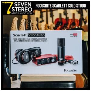 Focusrite Scarlett Solo Studio Pack 3rd Gen - Paket Recording