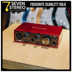 Focusrite Scarlett Solo 3rd Gen Audio Interface - Soundcard Recording