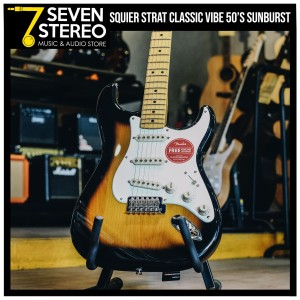 Squier Classic Vibe Stratocaster 50s Electric Guitar 2-Tone Sunburst