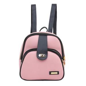 Tas Backpack Ransel Punggung Wanita Sintetis Pink TRT 1109 GARUCCI