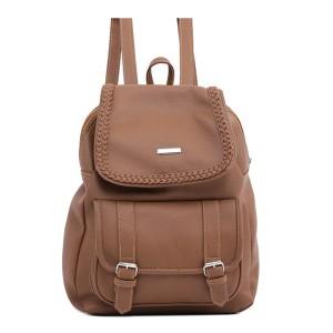 Tas Backpack Ransel Punggung Wanita Sintetis Cokelat TIN 1106 GARUCCI