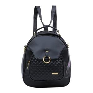 Tas Backpack Ransel Punggung Wanita Sintetis Hitam TIN 0977 GARUCCI
