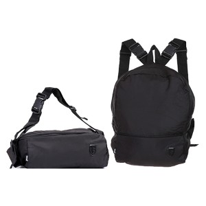 Tas Backpack Sling Fungsi Pria Sintetis Hitam TRH 4139 GARUCCI