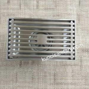 Floor shower drain 15cm x 10cm tile insert anti-bau stainless 304