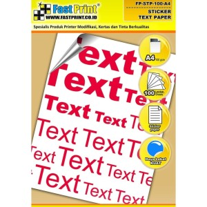 Kertas Stiker Glossy Text Paper Fast Print A4 100 Gram 100 Lbr