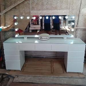 Jual Vanity Mirror Table Meja Rias Lampu Kaca Rias Lampu 212