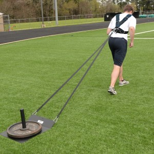 Workoutz Economy Speed Sled with Power Harness and Pulling Strap