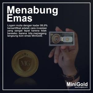 Jual Emas Mini 0 25 Gr L Mini Gold Asli 100 L Minigold Solusi