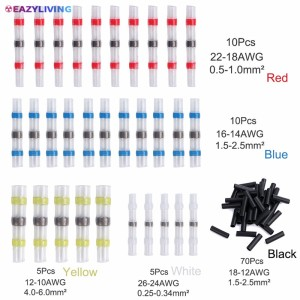 10X 16-14AWG Waterproof Solder Sleeve Heat Shrink Butt Wire Splice Connector Kp