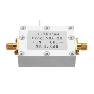 50K-2G LNA Low Noise Amplifier High Gain 31DB@0.5G Flatness RF