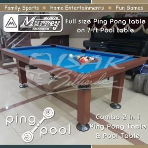 Jual Dijual Murrey Ping Pool Combo 2 In 1 Table Tennis Meja Billiard Jakarta Utara Mixstores Tokopedia