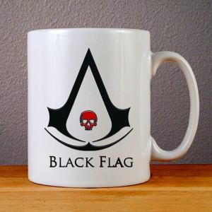 Jual Mug Ceramic Assassins Creed 4 Black Flag Skull Black