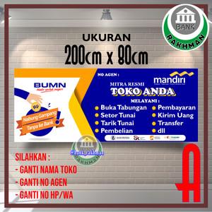 Jual Spanduk Banner Agen Mandiri Online Ukuran 200cm X 80cm Jakarta Barat Bank Rakhman Tokopedia