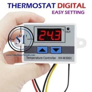 Jual Digital Thermostat W3001 Temperature Termostat Suhu Panas