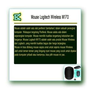 Jual Mouse Wireless Logitech M170 Hitam Kota Denpasar Bitarcom Tokopedia