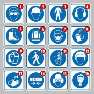 Jual Vian Safety Sign Simbol K3 Pakai Pelindung Mata Telinga Kepala Kota Bekasi Vian Sari Accessories Tokopedia
