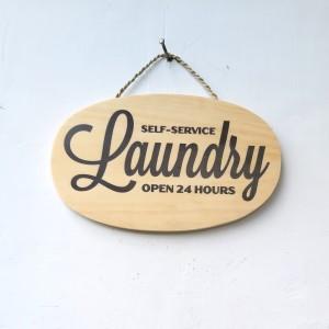 Jual Hiasan Dinding Papan Sign Laundry Room Self Service Open 24 Hours Kota Bandung Otematis Tokopedia