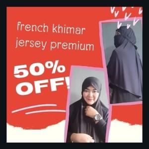 Jual French Khimar Jersey Super Kab Sukoharjo Alkey Hijab Tokopedia
