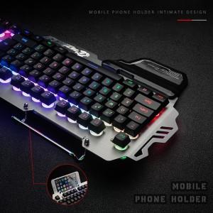 Jual Pk 900 7pin Keyboard Gaming Backlight Rgb Dengan Holder Handphone Kota Medan Renita 56 Tokopedia