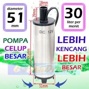 Jual Besar 51mm Pompa Celup 12v Submersible Pump Air Solar Diesel 30 Liter Kota Medan Golden Dream Tokopedia
