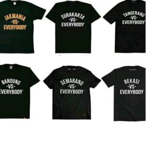 Jual Tshirt Kaos Custom Nama Daerah Vs Everybody Cotton High Quality Hitam L Jakarta Timur Hizproject Tokopedia