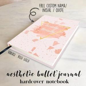Jual Custom Name Hardcover Aesthetic Notebook Buku Tulis A5 B5 Plain Grid Kab Bekasi Rheashops Tokopedia