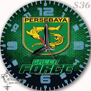 Jual Jam Dinding Club Bola Persebaya Green Force Kab Bandung Barat Sarasa2 Tokopedia