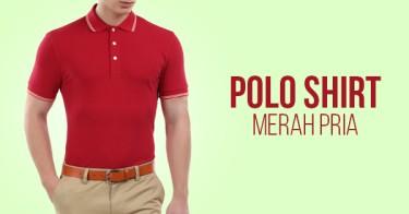 Jual Polo Shirt Merah Pria  e9e0ed00f9