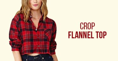 Crop Flannel Top