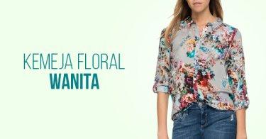 Kemeja Floral Wanita