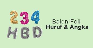 Balon Foil Huruf & Angka