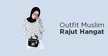 Outfit Muslim Rajut Hangat