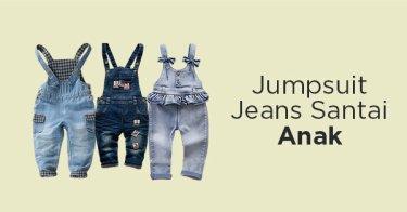 Jumpsuit Jeans Santai Anak