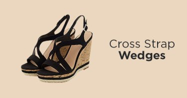 Cross Strap Wedges