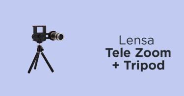 Lensa Tele Zoom + Tripod