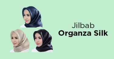 Jilbab Organza Silk