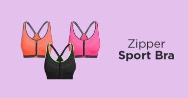 Zipper Sport Bra