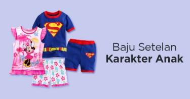 Baju Setelan Karakter Anak
