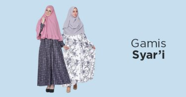 Jual Baju Gamis Syari`i - Cek Harga   Model Terbaru Lebaran 2018 ... 57c0abbfe7