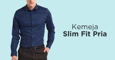 Kemeja Slim Fit Pria